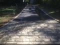cobblestone apron